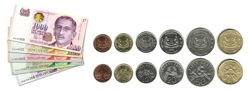 Singapore hiện lưu hành 2 loại tiền giấy và tiền xu